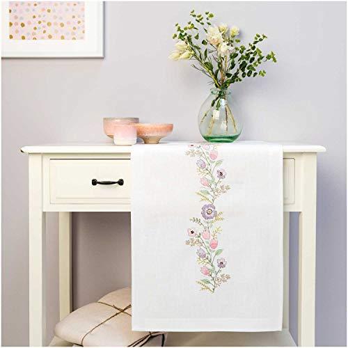 Rico Design GmbH komplette Stickpackung für Tisch-Läufer Blütenkranz