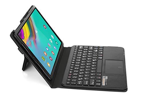 MQ für Galaxy Tab S5e 10.5 - Bluetooth Tastatur Tasche mit Touchpad für Samsung Galaxy Tab S5e 10.5 | Hülle mit Tastatur für Galaxy Tab S5e LTE SM-T725 WiFi T720 | Touchpad Tastatur Deutsch QWERTZ
