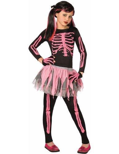 Déguisement Squelette Rose Enfant Large