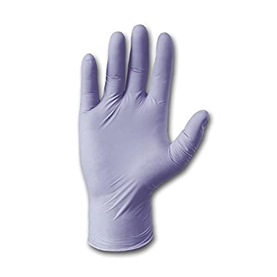 "West Chester 2930/S Nitrile Gloves, PosiShield 3 Mil Examination Grade Powder Free, 2.5"" Height, 5"" Wide, 9"" Length, Blend, (Pack of 100)"