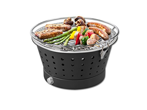 Starke Fun-BBQ Holzkohlegrill ohne Rauch/Tisch- Terassengrill 35 cm anthrazit