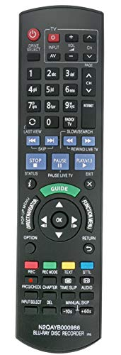 ALLIMITY N2QAYB000986 Fernbedienung Ersetzt für Panasonic Blu-ray Disc Recorder DMR-BCT74 DMR-BCT740 DMR-BCT84 DMR-BST845 DMR-BST940 DMR-BWT745 DMR-BCT845 DMR-BCT940 DMR-BST745