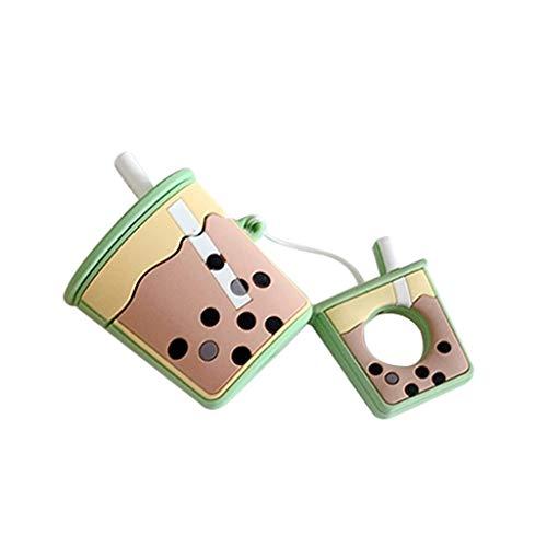 siwetg Mode schattige parel melk thee mok zachte siliconen beschermhoes stootvast hoes voor Airpods 1/2 laden box