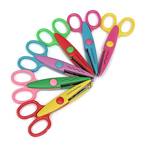 trify Core 6pcs Niños seguro de zigzag Tijeras Multicolor decorativa Papel Punta borde Scissor Juego para profesores wikia KI