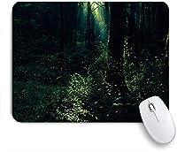 KAPANOU マウスパッド、ホタルの背景 おしゃれ 耐久性が良い 滑り止めゴム底 ゲーミングなど適用 マウス 用ノートブックコンピュータマウスマット