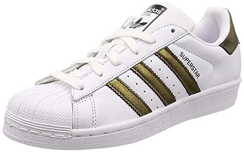 adidas Damskie buty gimnastyczne Superstar W, czarny - Czarny Ftwr White Core Black Core Black Core Black Core Black - 37 1/3 EU