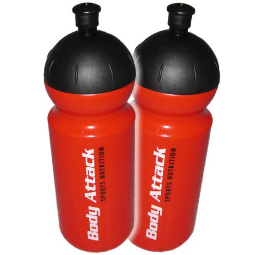 Body Attack Trinkflasche 500 ml, 2er Pack (2 x 80 g)