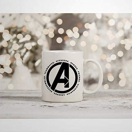 N\A Marvel Endgame Taza de café Inspirada en Infinity Wars Avengers Assemble Iron Man Present Taza de Novedad Taza de té de cerámica Regalo de cumpleaños de Navidad para Hombres y Mujeres