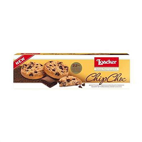 Loacker Gran Pasticceria Biscotto con gocce di Cioccolato fondente ChipChoc Keks mit Bitterschokoladestücken kekse biscuits cookies 96g