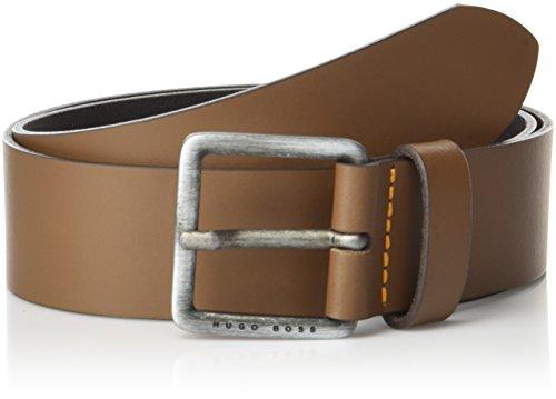Hugo Boss Herren Jeeko Italian Leather Belt Gürtel, mittelbraun, 80 cm