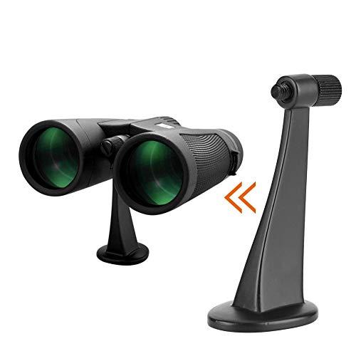 Oumij1 Montura Universal para Trípode Binocular - Montura de Adaptador de Metal - Soporte de Soporte - Conexión Estable y Manos Libres - Adaptador de Trípode para Telescopio Binocular (Negro)
