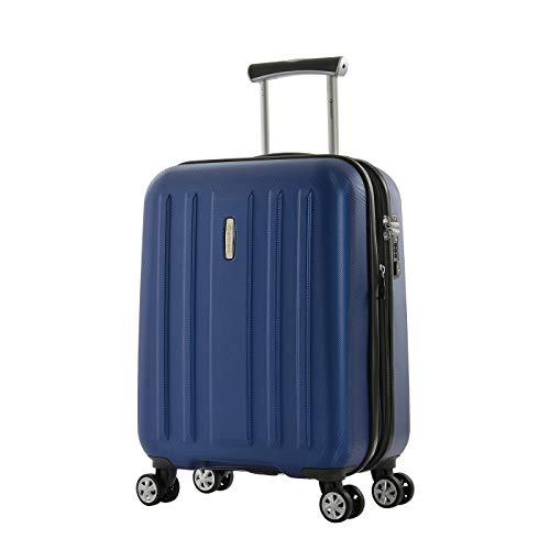 Eminent Bagaglio a mano Kapstadt V EXP 55 cm 45/54 L valigia cabina Rigida Espandibile Leggera 4 doppie Ruote silenziose Blu