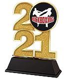 Trophy Monster Trofeo de Kick Boxing de 85 mm, premio de oro, plata o bronce, hecho de acrílico impreso, elegir entre 4 tamaños