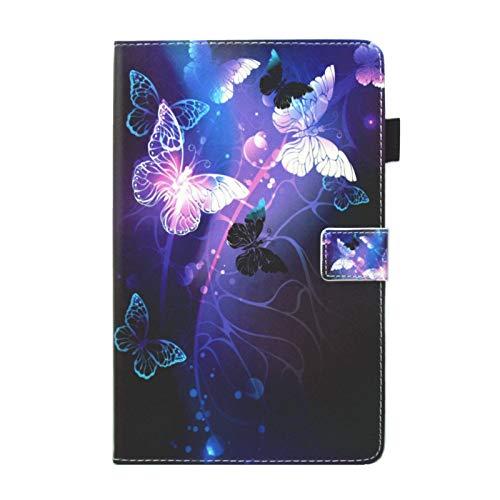 Lspcase Samsung Tab A 10.1 Hülle, Samsung Galaxy Tab A 10.1 Zoll T580/ T585 Case Schutzhülle Anti-Scratch PU Leder Taschen - Automatischem Schlaf Funktion und Standfunktion Lila Schmetterling