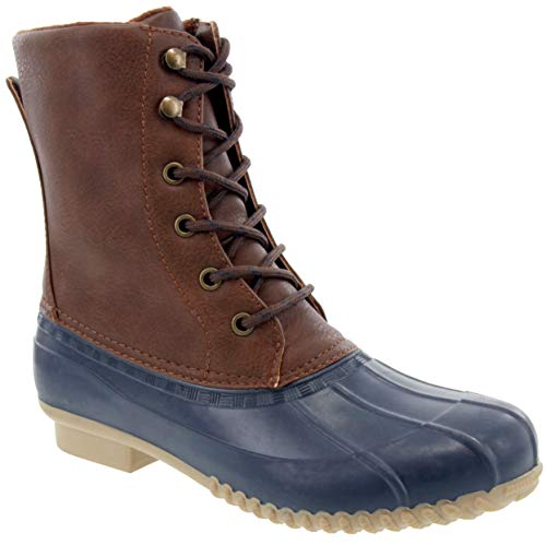 LONDON FOG Womens Wonder Cold Weather Duck Boot Navy 8 M US