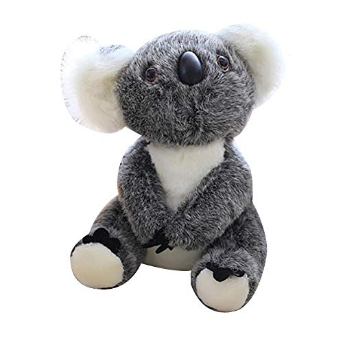 Fulinmen Plush Toy,Cute Simulated Koala Plush Toy Super Soft Stuffed Animal Doll Birthday Gift,Made of US Natural Cotton,Perfect Best Gift for Thanksgiving,Christmas,Valentine 17cm Gray