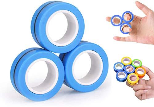 SZSMD Magnetischer Ring, dekompressionsspielzeug,magnetischer armbandring,Magnetarmband, Stressabbau-Gadget, sensorisches Spielzeugset, Dekompressionsgeschenk für Freunde, Zaubershow