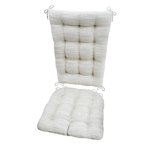 Rocking Chair Cushions Brisbane Mist Grey Extra Large Seat