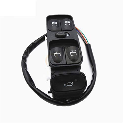 KUANGQIANWEI Botonera elevalunas Interruptor Fit Ventana de Control de alimentación for A2038200110 Mercedes Clase C W203 C180 C200 C220 2038210679 A2038210679