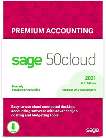 Sage 50cloud Premium Accounting 2021 U S 5 User One Year Subscription Cloud Connected Small product image
