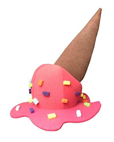 Horror-Shop Eiscreme Schaumstoff Hut mit Streuseln als Kostüm Zubehör für Halloween und Karneval