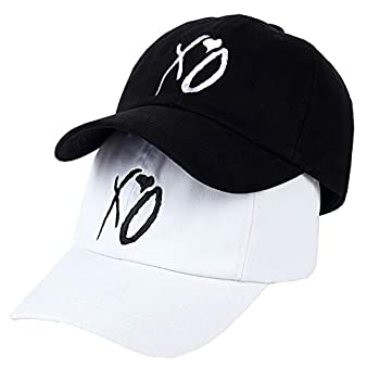 Pack of 2,Embroidered Baseball Cap Outdoor Casual Couple Cap Snapback Hat Dad Hat  Xo