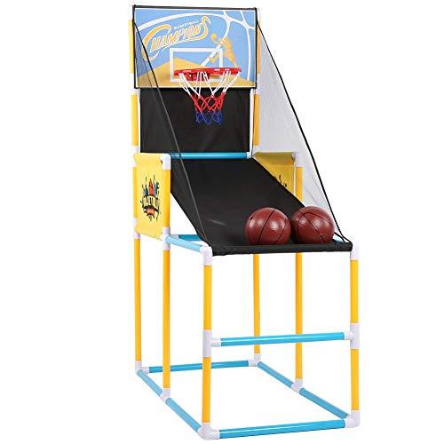 T best Máquina de Baloncesto, Tablero de Baloncesto Deportivo Máquina de Tiro Vertical Los niños practican el Bastidor de Entrenamiento de aro de Juguete