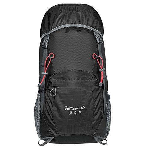ZTLY 40L Rucksack Foldable Hiking Backpack Ultra Lightweight Tear Water Resistant Travel Camping Trekking Daypack for Men Women