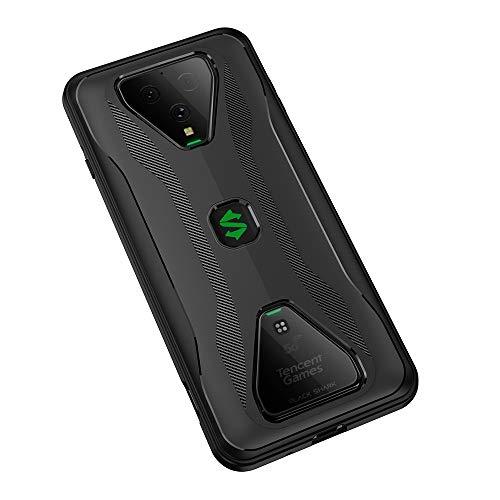 NOKOER Hülle für Xiaomi Black Shark 3/3S, 2 in 1 PC + TPU Doppelschicht Hülle Cover, Staubdicht Anti-Fall Handyhülle [Ultra Slim] [rutschfest] [Shock Absorption] - Schwarz