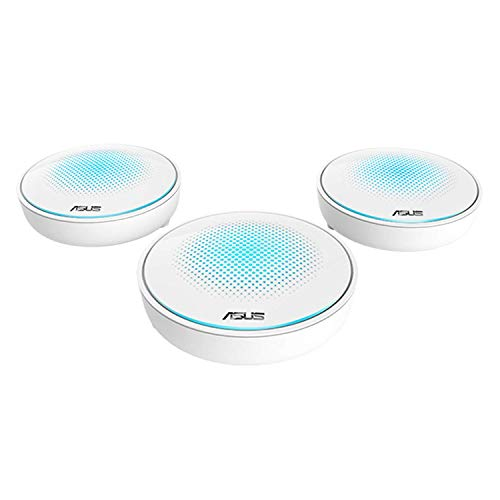 Asus Lyra Mesh WLAN System (Wi-Fi 5 AC2200 Tri-Band, Ai Mesh, App Steuerung, Roaming, LAN Backhaul, AiProtection, 3in1 Adapter Set)