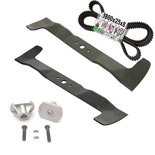 Messer Reparatur Set für Castel Garden TwinCut Honda Iseki Brill (122cm Kombi-Mulchmesser)
