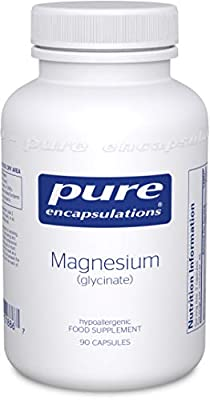 Pure Encapsulations - Magnesium (Glycinate) 120mg - Bioavailable Magnesium Chelate Tiredness and Fatigue Supplement - 90 Capsules