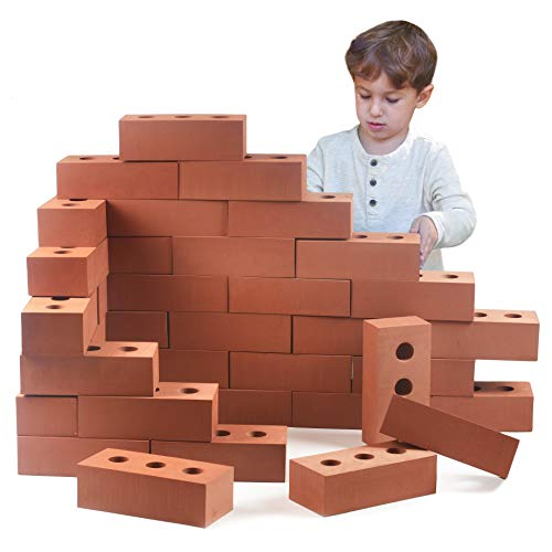 Playlearn Life Size Foam Construction Building Blocks/Bricks Toy Role Play Realistic (Pack of 25)