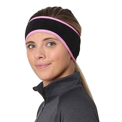TrailHeads Women's Ponytail Headband – Black/Fast Pink