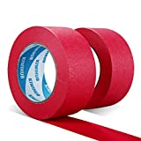 KIWIHUB Painter's Tape, 2'(50mm) x 60 yd (120 Yards Total), 2 Rolls - Red Painting & Masking Tape - Multi Surface Use - 14 Day Clean Release Trim Edge Finishing Tape
