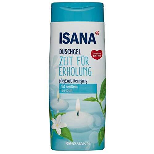 ISANA Duschgel Zeit für Erholung pflegende Reinigung mit weißem Tee-Duft Inhalt: 300ml Showergel