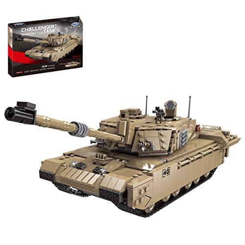 Modelo de tanque de bloque de construcción, Reino Unido Challenger 2 tanque militar conjunto de construcción,