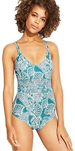 Kona Sol Damen Badeanzug mit Netzeinsatz, einteilig - Blau - Small