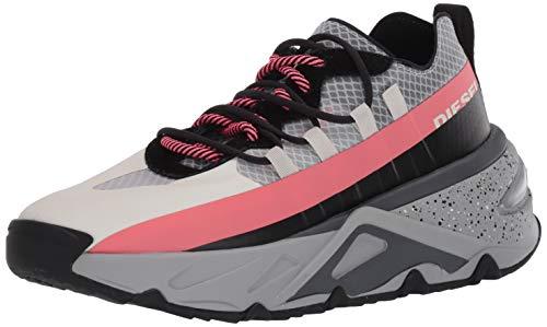 DIESEL S-Herby SB-Sneakers, Scarpe da Ginnastica Donna, H7997 Bianco Nero Corallo di Zucchero, 35 EU