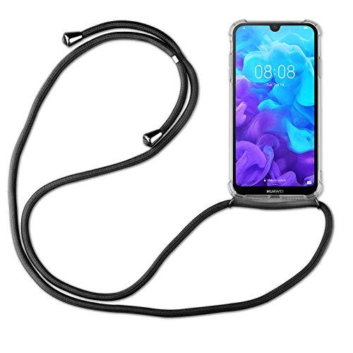 betterfon | Huawei Y5 2019 Handykette Smartphone Halskette Hülle mit Band - Schnur mit Hülle zum umhängen Handyhülle mit Kordel zum Umhängen für Huawei Y5 2019 Schwarz