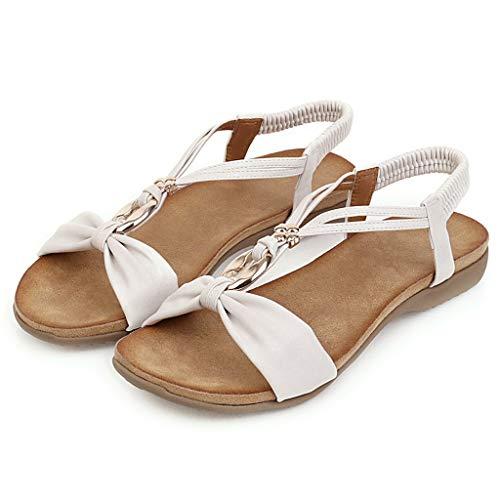 KERULA Sandalen Damen, Big Size Bohemian Style Wohnung Damenschuhe Shoes Strandschuhe Sandaletten Freizeitschuhe Schuhe