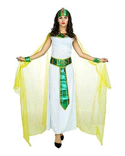 KIRALOVE Traje Egipcio - sacerdotisa - Vestal - Cleopatra - Nefertiti - Disfraces de Mujer - Halloween - Carnaval - Cosplay - Mujer niña - Talla única - Idea de Regalo Original Cosplay