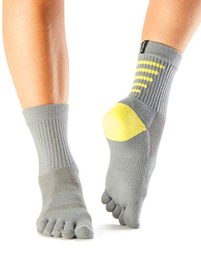 Fitness Mad ToeSox - Calcetines deportivos unisex para adultos, peso medio, tamaño pequeño