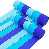 Papel Crepe (Pack de 12) - 25mx4,5cm Azul Papel de Colores – Rollo Papel Pinocho Papel C...