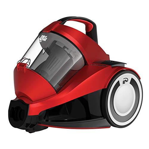 Dirt Devil DD2424-1-REBEL 34 PARQUET Aspiradora Sin Bolsa 4A, 700 W, 1.8 litros, 79 Decibeles, Rojo Metalizado