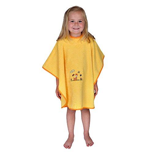 Worner SüdFrottier pour fille bébé fille garçon girafe jaune taille 74-116 pyjama 2 pièces shorty bavoirs serviette de bain gant de bain poncho de bain poncho de bain 120 x 75 cm