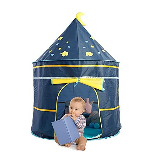 DQST Casa de Campaña para Niños Niñas, Tienda de Campaña para Niños Portátil Plegable y Transpirable, Casita para Niños Interior y Exterio(Azul)
