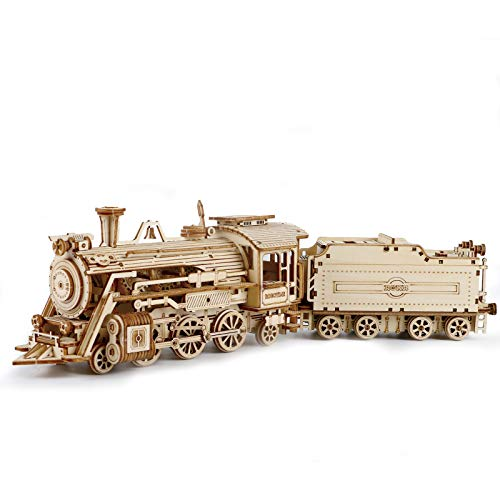 ROBOTIME 3D Wooden Puzzle Craft Kits Scale Model Car Kit for Adults and Kids 1:80 Scale Model Prime...