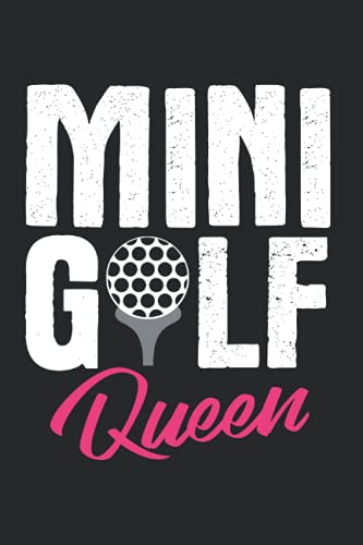 Mini Golf Queen: A5 Tagesplaner Terminplaner Kalender, Mini Golf Königin Queen Minigolf Mädchen