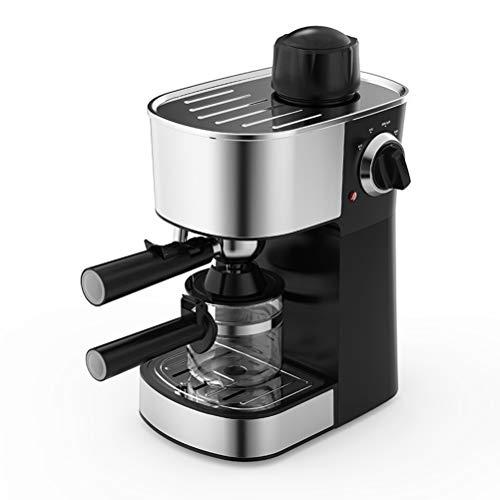 Máquina de café espresso, Cafetera hidropresión de 5 bares, 4 tazas de 240 ml, con espumador de leche para café capuchino 800W